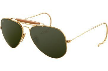 Ray-Ban RB 3030 Sunglasses, Arista Frame / Crystal Green Lenses, L0216-5814
