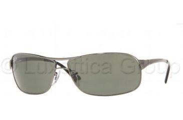 d7906e8b9f Ray-Ban RB 3343 Sunglasses Styles - Gunmetal Frame   Crystal Green  Polarized 63 mm