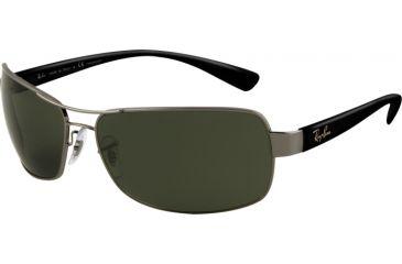 Ray-Ban RB 3379 Sunglasses Styles - Gunmetal Frame / Crystal Green Polarized Lenses, 004-58-6415