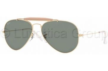 Ray-Ban Outdoorsman II Rainbow Bifocal Sunglasses RB3407 with Lined Bi-Focal Rx Prescription Lenses RB3407-001-5514 - Lens Diameter: 55 mm, Frame Color: Arista Crystal