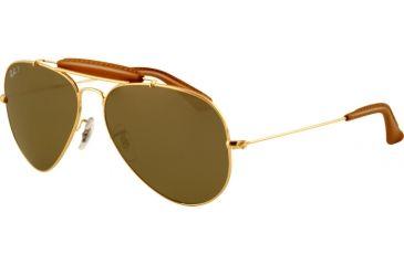 Ray-Ban Bifocal Sunglasses RB3422Q with Lined Bi-Focal Rx Prescription Lenses RB3422Q-001-M9-5814 - Lens Diameter: 58 mm, Frame Color: Shiny Gold