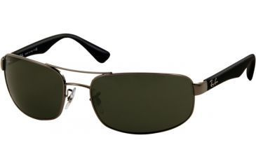 cd8fc00451 Ray-Ban RB3445 Progressive Sunglasses - Gunmetal Frame w  Crystal Green 61  mm Diameter