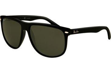 ray ban rb4147 sunglasses black frame deep green polarized lens