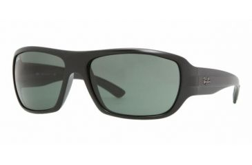 Ray-Ban RB 4150 Sunglasses Styles - Matte Black Frame / Crystal Green Lenses, 601S-6416