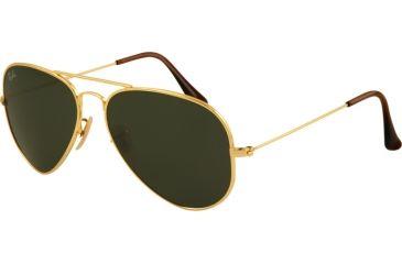 Ray-Ban RB8041 Bifocal Sunglasses - Gold Frame / 58 mm Prescription Lenses, 001-5814