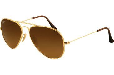 Ray-Ban Bifocal Sunglasses RB8041 with Lined Bi-Focal Rx Prescription Lenses RB8041-001-M2-5514 - Lens Diameter: 55 mm, Frame Color: Shiny Gold