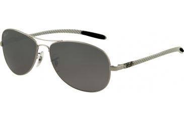 Ray-Ban RB 8301 Sunglasses Styles - Gunmetal Frame, Polar Cry. Gray Mirror Silver Grad. 56 mm Lens 004-N8-5614