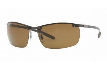 Ray-Ban Sunglasses RB8306 082/83-6400 - Dark Carbon Frame, Brown Lenses