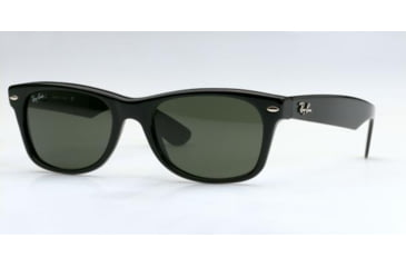 Ray-Ban New Wayfarer Sunglasses, Black Frame, Green Lens #901L-5518