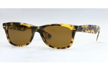 Ray-Ban New Wayfarer Sunglasses, Yellow-Brown Tortoise Frame, Brown Lens #944-5218