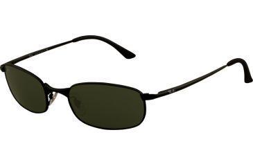 Ray-Ban RB3162 Bifocal Sunglasses - Matte Black Frame w/ Crystal Green 52 mm Diameter Lenses, 006-5219