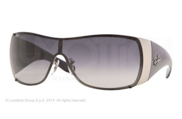 Ray-Ban RB3361 Sunglasses 042/8G-42 - Silver Striped Frame, Gray Gradient Lenses