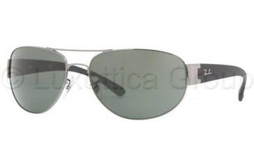 7a1d58e6ad Ray-Ban RB3448 Sunglasses 004-6317 - Gunmetal Crystal Green