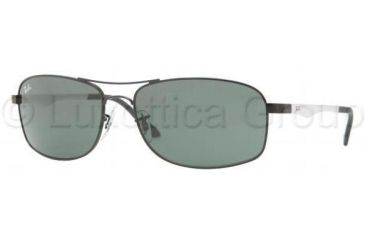 Ray-Ban RB3484 Sunglasses 002-6017 - Black Frame, Crystal Green Lenses