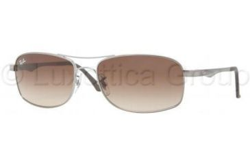 b4b90302cb ... discount code for ray ban rb3484 sunglasses 004 51 6317 gunmetal frame  crystal brown 2857a 70ad9