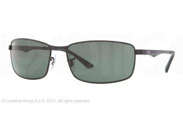 Ray-Ban RB3498 Sunglasses 002/71-6117 - Black Frame, Green Lenses