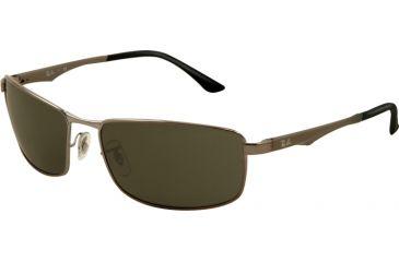 Ray-Ban RB3498 Sunglasses 004/71-6417 - Gunmetal Frame, Green Lenses