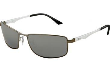 Ray-Ban RB3498 Sunglasses 029/82-6417 - Matte Gunmetal Frame, Polarized Gray Mirror Silver Gradient Lenses