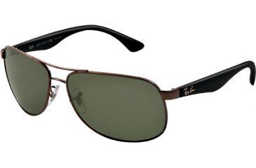 Ray-Ban RB3502 Sunglasses 004/58-6114 - Gunmetal Frame, Crystal Green Lenses