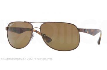 Ray-Ban RB3502 Sunglasses 014/57-6114 - Brown Frame, Crystal Brown Lenses