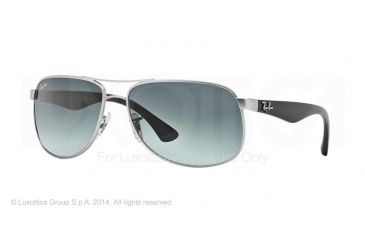 Ray-Ban RB3502 Sunglasses 019/71-61 - Matte Silver Frame, Grey Gradient Dark Grey Lenses