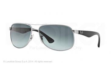 Ray-Ban RB3502 Sunglasses 019/71-61 - Matte Silver Frame, Grey Gradient Dark Grey Lenses
