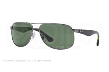 Ray-Ban RB3502 Sunglasses 029-61 - Matte Gunmetal Frame, Crystal Green Lenses
