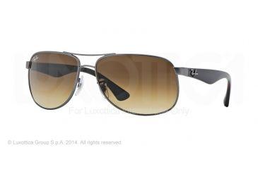 Ray-Ban RB3502 Sunglasses 029/85-61 - Matte Gunmetal Frame, Brown Gradient Dark Brown Lenses