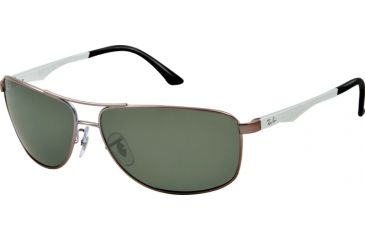 Ray-Ban RB3506 Sunglasses 029/9A-61 - Matte Gunmetal Frame, polar green Lenses