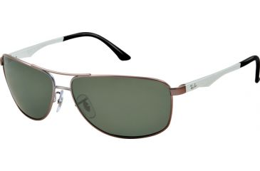 Ray-Ban RB3506 Sunglasses 029/9A-64 - Matte Gunmetal Frame, polar green Lenses