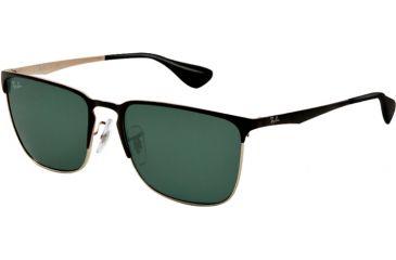 Ray-Ban RB3508 Bifocal Prescription Sunglasses RB3508-135-71-56 - Lens Diameter 56 mm, Lens Diameter 56 mm, Frame Color Top Black On Silver