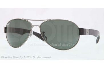 Ray-Ban RB3509 Bifocal Prescription Sunglasses RB3509-004-71-66 - Lens Diameter 66 mm, Frame Color Gunmetal