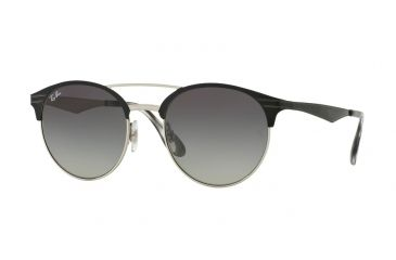 Ray-Ban RB3545 Sunglasses 900411-51 - Top Black On Silver Frame, Grey e72975fcfa