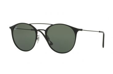 4fa80bf64edf17 Ray-Ban RB3546 Sunglasses 186-49 - Black Top Matte Black Frame, Green