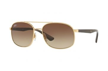 Ray-Ban RB3593 Sunglasses 001 13-58 - Gold Frame, Brown Gradient 4b383db24a