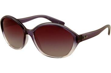 Ray-Ban RB4164 Progressive Prescription Sunglasses RB4164-822-8G-6216 - Lens Diameter: 62 mm, Frame Color: Top Blue / Transparent