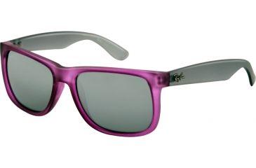 Ray-Ban RB4165 Sunglasses 602488-5116 - Dark Violet Rubber Frame, Grey/Silver Mirror Gradient Lenses