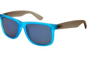 Ray-Ban RB4165 Sunglasses 602855-5116 - Rubber Azure Frame, Blue Mirror Lenses