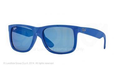 Ray-Ban RB4165 Sunglasses 608855-51 - Rubber Blue Frame, Blue Mirror Lenses
