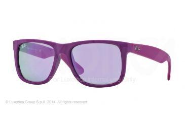 Ray-Ban RB4165 Sunglasses 60894V-51 - Rubber Fuchsia Frame, Grey Mirror Violet Lenses
