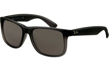 Ray-Ban RB4165 Sunglasses 852/88-5116 - Rubber Grey/Grey Trasparent Frame, Gray Silver Mirror Gradient Lenses
