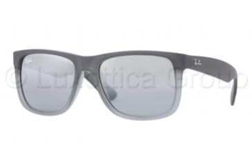 Ray-Ban JUSTIN RB4165 Progressive Prescription Sunglasses RB4165-852-88-5116 - Lens Diameter 51 mm, Frame Color Rubber Grey/Grey Trasparent