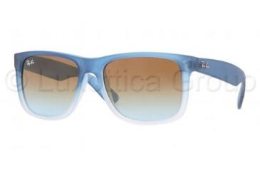 Ray-Ban JUSTIN RB4165 Progressive Prescription Sunglasses RB4165-853-5D-5416 - Lens Diameter 54 mm, Frame Color Rubber Gradient Blue/Transparent