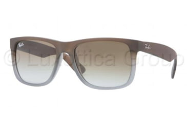 Ray-Ban JUSTIN RB4165 Progressive Prescription Sunglasses RB4165-854-7Z-5116 - Lens Diameter 51 mm, Frame Color Rubber Brown On Grey