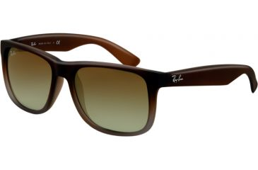 Ray-Ban RB4165 Sunglasses 854/7Z-55 - Rubber Brown On Grey