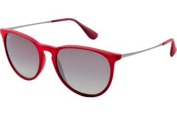 Ray-Ban ERIKA RB4171 Single Vision Prescription Sunglasses RB4171-600111-5418 - Lens Diameter 54 mm, Frame Color Marc Rubber