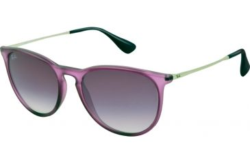 Ray-Ban ERIKA RB4171 Single Vision Prescription Sunglasses RB4171-60258H-5418 - Lens Diameter 54 mm, Frame Color Transparent Light Violet Rubber
