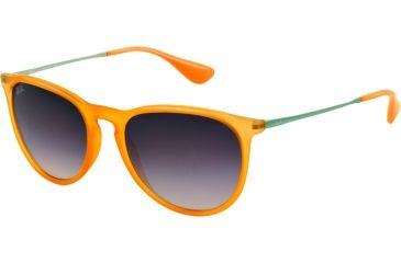 Ray-Ban ERIKA RB4171 Single Vision Prescription Sunglasses RB4171-602636-5418 - Lens Diameter 54 mm, Frame Color Transparent Orange Rubber