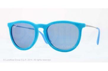 Ray-Ban ERIKA RB4171 Single Vision Prescription Sunglasses RB4171-607955-54 - Lens Diameter 54 mm, Frame Color Azure Velvet