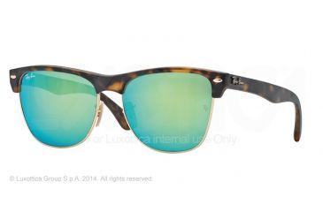 Ray-Ban RB4175 Sunglasses 609219-57 - Matte Havana Frame, Grey Mirror Green Lenses